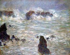 Tempête, côtes de Belle-Ile Claude Monet