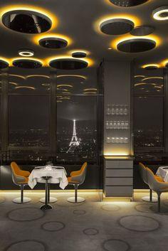 Stunning view from Restaurant Ciel de Paris, Paris, France.