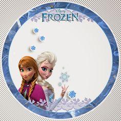 Frozen birthday party printable round label