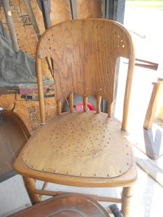 2 old Chairs priced each in Caraways_Treasures' Garage Sale in Edgewood , IL for 40.00 each.