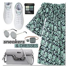 """Sneakers and Dresses"" by mada-malureanu ❤ liked on Polyvore featuring adidas, Gucci, Skagen, dress, zaful, dressunder100 and SNEAKERSANDDRESSES"