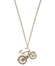 New Look Gold Embellished Bicycle Pendant Necklace New Look Fashion, Bicycle, Hair Accessories, Pendant Necklace, My Style, Gold Gold, Jewelry, Jewellery Making, Bicycle Kick