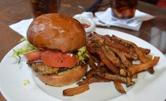 Giant burger from the Front Street Bar & Grille in the Brewery District.