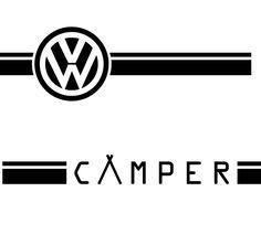 Camper Twin Line! - Side Stripe Decal for Volkswagen Campers. Vw Transporter Camper, Vw T5, Volkswagen Logo, Moto Logo, Vw Logo, Car Brands Logos, Camper Twins, New Bus, Mug Printing