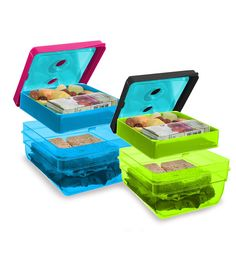 Fit & Fresh's BPA-free bento boxes are the perfect eco-friendly inspiration for kids' lunches. These lunchbox carriers also keep your softer food safe from any potential squishing in a backpack or purse.