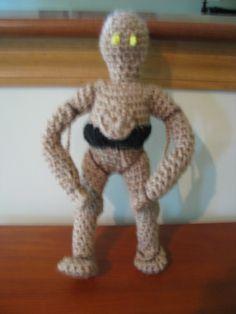 C3PO Dinosaur Stuffed Animal, Toys, Create, Crochet, Animals, Activity Toys, Animaux, Knit Crochet, Animal