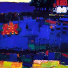 Blue Field by Francis Boag - Diane Hutt Gallery