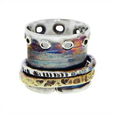 Customize your very own wide spinner ring! This ring can be special ordered to a specific size and whichever finish you prefer. Each Spinner Ring is Rock Jewelry, Beaded Jewelry, Jewellery, Gemstone Jewelry, Meditation Rings, Spinner Rings, Love Ring, Unique Rings, Rose
