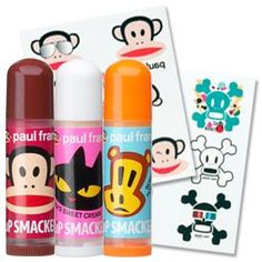 The Bonne Bell Company | Color and Flavor Shop | LIP SMACKER | Lip Smacker Collections | Paul Frank Lip Smacker | Paul Frank Lip Smacker® Lip Trio with Tattoos