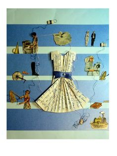 Vestidos escritos, collages