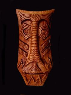 Wooden mask: mahogany. 2003 | Will Worsnopp-wood carving.
