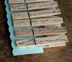Love these French Script cloths pins! I may have to get these for my mother-in-law...