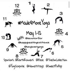 Join the #Made4MoreYoga Challenge on Instagram @namatstayz is a proud sponsor. Lots of cool prizes #mobilizeyourmat