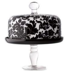 love this damask cake stand