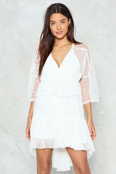 The Put On Spot Dress Features A High Low Mini Silhouette White Lace Shortwhite