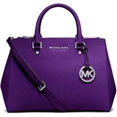 Michael Kors Sutton Medium Grape Leather Satchel http://www.overstock.com/search?keywords=michael+kors+handbags&SearchType=Header