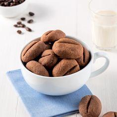 Biscuits au café - Les recettes de Caty Biscuits Au Café, Biscuits Graham, Dog Food Recipes, Dessert Recipes, Jus D'orange, Cereal, Muffins, Snacks, Cookies