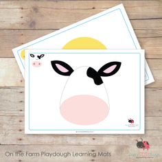 On the Farm playdough learning mats by Busy Little Bugs Playdough Activities, Farm Activities, Animal Activities, Craft Activities For Kids, Preschool Activities, Farm Crafts, Crafts To Do, Farm Party Games, Farm Lessons