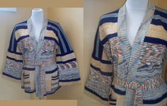 Sweater 70s Vintage Cardigan Space Dye XL. $34.99, via Etsy.