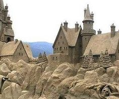 Sand Castle. Looks like Hogworts from Harry Potter.