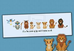 Mini People - The Lion King cross stitch pattern by cloudsfactory.deviantart.com on @deviantART