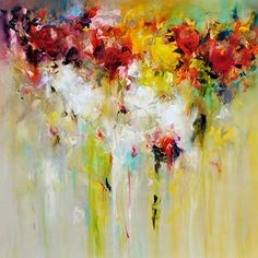 """""""Uplifted"""" 40"""" x 40"""" Acrylic on Canvas by Carole Arnston. Available at Crescent Hill Gallery in Mississauga, ON"""