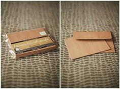 buy blank cards (love this texture/color) and use own branding.