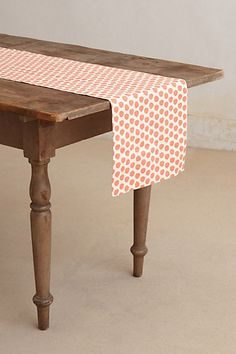 Sun Dots Table Runner - thinking about repurposing as a wall hanging and incorporating Wrenly fabric. #anthropologie