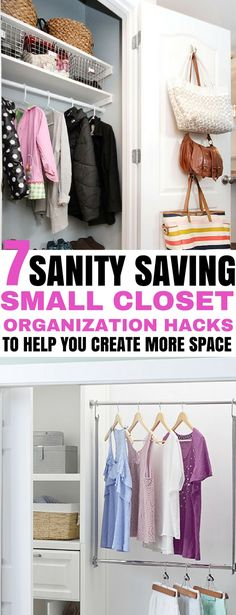 These small closet organization hacks are perfect for apartment rentals being that they are super simple, and don't require much work! | closet organization | #closetorganization #smallclosetorganization #homeorganization #rentalfriendly