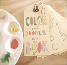 Coloring and Doodle Mini Book Tutorial by Crescendoh