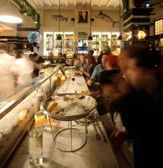 Rare Belon Oysters Surface at John Dory Oyster Bar Seafood Place, Seafood Shop, Seafood Restaurant, Cafe Restaurant, Restaurant Ideas, John Dory Oyster Bar, Bridge Restaurant, Casual Restaurants, Bar Grill