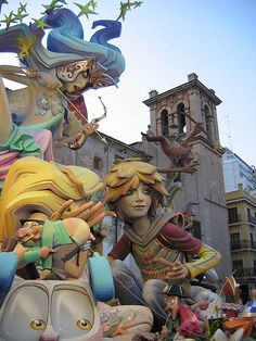 Fallas at Valencia (Spain)