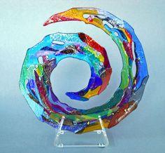 circular with scrap trans glass