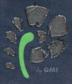 Un'altra idea per decorare i jeans con ricamo e laser. Effetto #Abercrombie