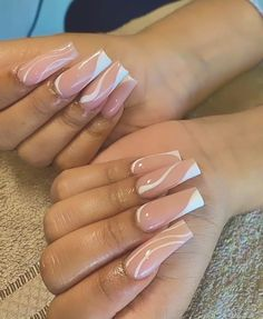 Pink Tip Nails, Acrylic Nails Coffin Pink, Square Acrylic Nails, Acrylic Nail Designs, Sqaure Nails, Tapered Square Nails, Square Nail Designs, Acylic Nails, Sparkle Nails