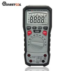 Visiocology : Mustool MT826 True RMS Professional Digital Multimeter AC/DC Current AC/DC Voltage Resistance Capacitance Frequency Continuity ℃/℉ Transistor Diode Tester with Silicone Test Line & USB Cable
