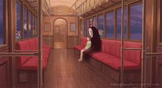 """Miyazaki's Spirited Away.  This scene reminds me of the long train rides I got used to taking from DC to NY from '02 to '08.  Music: """"The Sixth Station"""" from Joe Hisaishi's 'Hisaishi Meets Miyazaki Films'"""