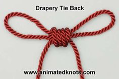 Drapery (Curtain) Tie Back | How to Tie Back a Curtain | Household Knots