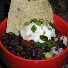 Quick Black Bean Soup - I must have made this 10 times already, really quick and flavorful
