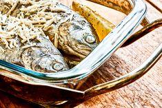 Forelle aus dem Ofen mit frischem Meerrettich