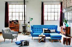 Muebles discretos es la clave para un espacio pequeño.