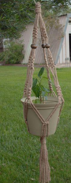 Macrame plant hangers. I used to LOVE to Macrame!