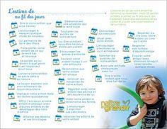 30 gestes quotidiens pour construire l'estime de soi de votre enfant. A lire, à faire!...