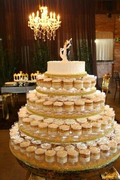 basics of rustic wedding cake and cupcakes display receptions you can benefit from st. the basics of rustic wedding cake and cupcakes display receptions you can benefit from starting right away 44 Mini Wedding Cakes, Wedding Cake Rustic, Wedding Cakes With Cupcakes, Elegant Wedding Cakes, Beautiful Wedding Cakes, Wedding Cake Designs, Wedding Desserts, Mini Cakes, Cupcake Cakes