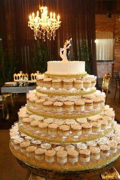 Bolo de pote no casamento