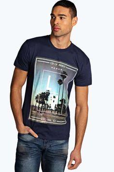 LA Photographic Printed T Shirt at boohoo.com