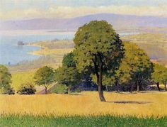 Outskirts of Lausanne, 1893 by Felix Vallotton. Impressionism. landscape. Private Collection