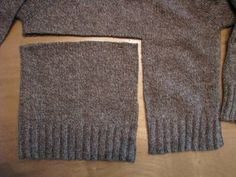 Pinner: So quick and easy! Hat out of a sweater...it's just calling for a flower!