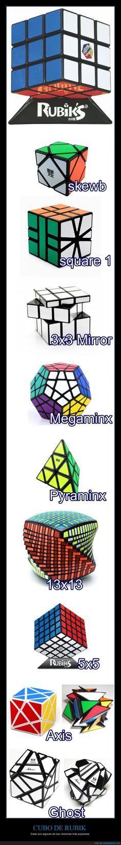 Cubo de rubik, la cosa se complica - Estas son algunas de sus versiones más populares