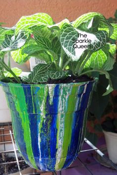 How To: Unique, Dripped Paint Garden Pot {Video Tutorial}